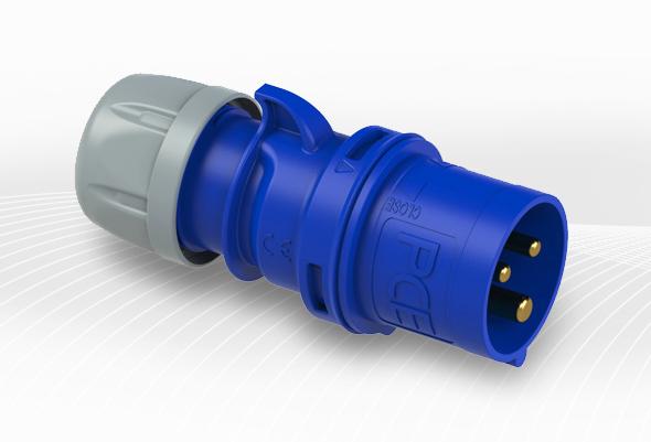 Fiche électrique 16A 2P+T IP44
